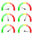 blank measuring dial industrial colored gauge vector image