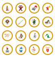 medieval cartoon icon circle vector image