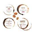 Coffee stains with type vector image vector image