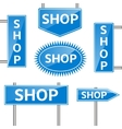 Shop banners vector image