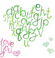 Hand drawn font of hand brushed calligraphic vector image