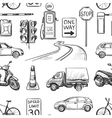 Seamless pattern of Traffic Laws icons vector image