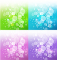 set of bath backgrounds vector image vector image
