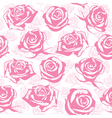 Seamless pink flower background vector image