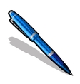 Blue ballpoint pen on a white background vector image