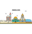 france nice city skyline architecture buildings vector image