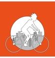 Graphic design of Bike lifestyle editable vector image