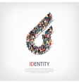 identity people sign 3d vector image