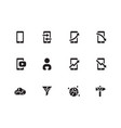 mobile traffic icons on white background vector image