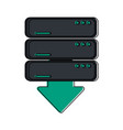 servers download web hosting icon image vector image