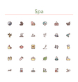 Spa Colored Line Icons vector image