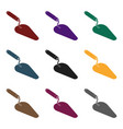 trowel icon in black style isolated on white vector image