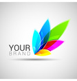 Creative colorful abstract logo design Template vector image