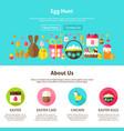 web design egg hunt vector image