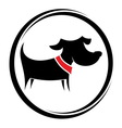 Dog sign vector image vector image