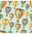 Retro seamless travel pattern of balloons vector image vector image