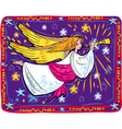 christmas angel and trumpet vector image