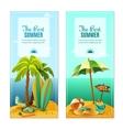 Beach banners set vector image