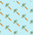 carrot vegetable seamless pattern vector image