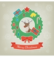 Merry Christmas greeting card Christmas design vector image