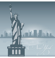 New York skyline city silhouette Background vector image