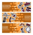 Set of Horizontal Banners about barber shop vector image