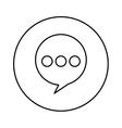 speech bubble message icon vector image