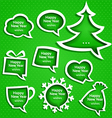 Christmas speech bubles set various shapes vector image