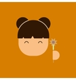 China woman face of Chinese vector image