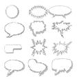 Set of comic speech bubbles vector image vector image