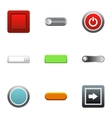 Click button icons set flat style vector image