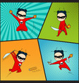 Super hero set chef of japanese cuisine vector image