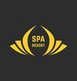 golden spa resort logo vector image