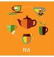 Tea flat concept vector image vector image