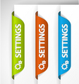 bookmark stickers vector image