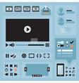 Ui design elements vector image