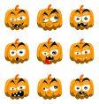 cartoon Halloween pumpkins vector image vector image