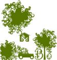 be green set vector image