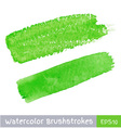 Green Watercolor Brush Strokes vector image