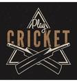 Retro cricket emblem design Cricket logo icon vector image