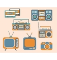 Retro Media Electronics Set vector image