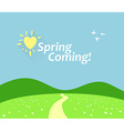 Spring Comming vector image
