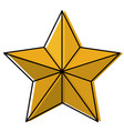 star award flat icon watercolor silhouette vector image