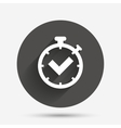 Timer sign icon Check stopwatch symbol vector image