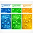 Color medical science poster vector image vector image