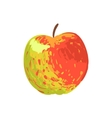 Multicolor Apple Funky Hand Drawn Fresh Fruit vector image