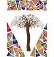 Art noveau tree idea vector image