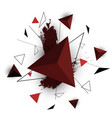 red triangle abstract on white background vector image vector image