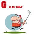 Golf cartoon vector image