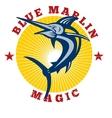 Blue marlin magic vector image